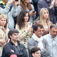 Xisca Perello lors de la finale victorieuse de son homme Rafael Nadal à Roland-Garros face à David Ferrer le 9 juin 2013 à Paris