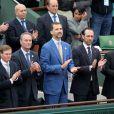 Le prince Felipe d'Espagne lors de la finale 100% ibérique de Roland-Garros 2013 entre Rafael Nadal et David Ferrer, le 9 juin 2013 à Paris.