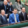 Le prince Felipe d'Espagne à Roland-Garros le 9 juin 2013 pour la finale 100% ibérique entre Rafael Nadal et David Ferrer