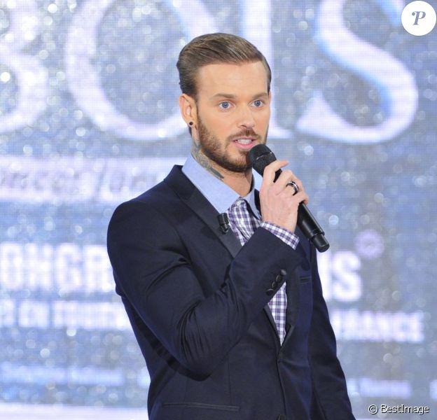 """M. Pokora à l'enregistrement de l'émission """"Vivement Dimanche"""" à Paris le 3 avril 2013 et diffusée le 7 avril."""