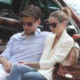 Olivia Palermo et son petit ami Johannes Huebl à New York, le 9 juin 2013.