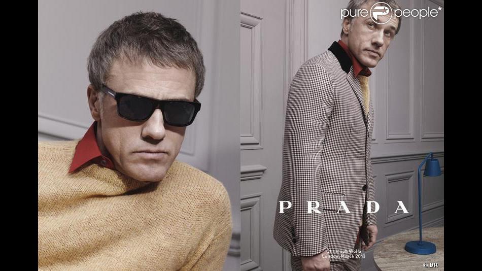 Christoph Waltz photographié par David Sims pour Prada. Campagne automne-hiver 2013.
