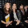 Marisa Berenson et sa fille Starlite Randall Berenson au défilé Fendi lors de la Fashion Week de Milan, le 21 février 2013