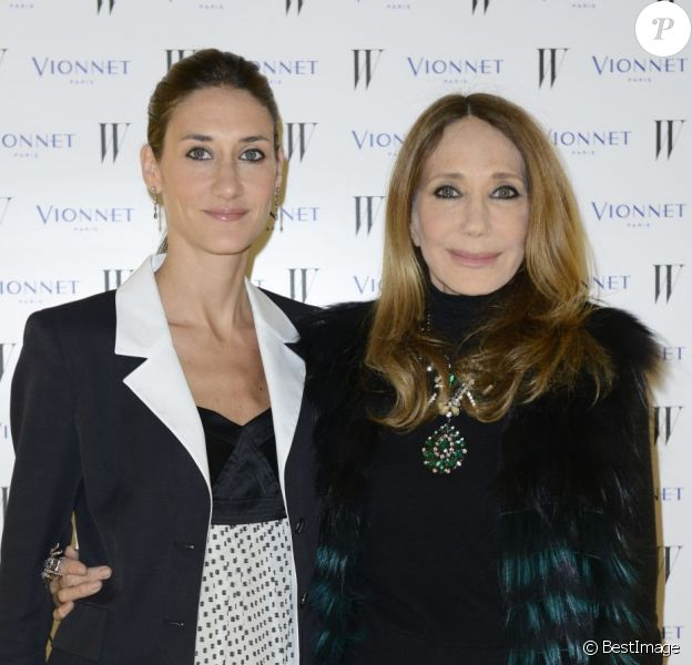 Marisa Berenson et sa fille Starlite Randall Berenson lors d'un cocktail Vionnet pendant la Fashion Week de Milan, le 21 février 2013