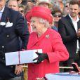 La reine Elizabeth II à la Cartier Queen's Cup au Guards Polo Club de Windsor, le 16 juin 2013