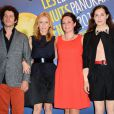 """Clément Sibony, Léa Drucker, Cathy Brady et Amira Casar à la soirée """"Les Nuits en Or 2013, Le Panorama"""" organisée dans les locaux de l'UNESCO à Paris, le 17 juin 2013."""