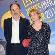 """Jean-Pierre Darroussin et Anna Novion à la soirée """"Les Nuits en Or 2013, Le Panorama"""" organisée dans les locaux de l'UNESCO à Paris, le 17 juin 2013."""