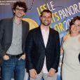 """Hugo Gelin, Jaime Maestro Selles et Lola Duenas à la soirée """"Les Nuits en Or 2013, Le Panorama"""" organisée dans les locaux de l'UNESCO à Paris, le 17 juin 2013."""