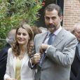Le prince Felipe et la princesse Letizia d'Espagne lors d'une cérémonie à Madrid, le 18 Juin 2013.