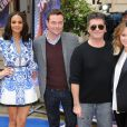 "Alesha Dixon, Stephen Mulhern, Simon Cowell et Amanda Holden au lancement de l'émission ""Britain's Got Talent"", le 11 avril 2013."