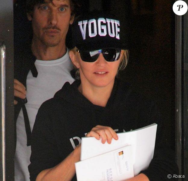 Madonna à l'issue d'un cours de Kabbale à New York. Le 22 juin 2013.
