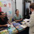 """Exclusif - Fabien Rypert et Adeline Blondieau posent durant le festival BD de Triel sur Seine, pour l'album """"Les Pochitos"""", le 22 juin 2013 22/06/2013 - Triel sur Seine"""