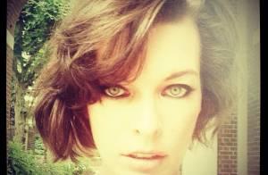 Milla Jovovich affiche fièrement sa nouvelle coupe sur Twitter