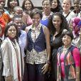 Michelle Obama lors de son déplacement en Afrique du Sud en juin 2011