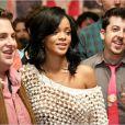 Jonah Hill, Rihanna et Christopher Mintz-Plasse dans C'est la fin.
