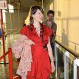 La chanteuse Camille, enceinte, assiste à la première du film Elle s'en va, lors du Festival Paris Cinéma, à Paris, le 30 juin 2013.