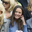 Pippa Middleton a assisté à un match du tournoi de tennis de Wimbledon à Londres, le 24 Juin 2013.