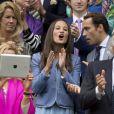 La belle Pippa Middleton et son frère James ont assisté à un match du tournoi de tennis de Wimbledon à Londres, le 24 Juin 2013.