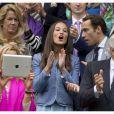 Pippa Middleton et son frère James ont assisté à un match du tournoi de tennis de Wimbledon à Londres, le 24 Juin 2013.