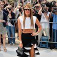 Anna Dello Russo arrive au défilé Christian Dior Couture le 1er juillet 2013 à Paris