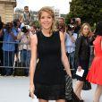 Amanda Sthers arrive au défilé Christian Dior Couture le 1er juillet 2013 à Paris