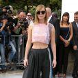 Jennifer Lawrence arrive au défilé Christian Dior Couture le 1er juillet 2013 à Paris