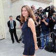 Aurelie Filippetti lors du défilé Chanel Haute Couture à Paris le 2 juillet 2013