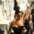 Nabilla : divine pour le défilé Jean-Paul Gaultier lors de la Fashion Week haute couture automne-hiver 2013-2014 à Paris, le 3 juillet 2013