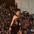 Nabilla défile sur le catwalk durant le défilé Jean-Paul Gaultier Haute Couture Automne Hiver 2013-2014 à Paris, le 3 juillet 2013