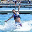 """""""Javier Pastore, tout heureux de nager avec les dauphins à Cancun durant ses vacances en juillet 2013"""""""