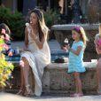 la gourmande Alessandra Ambrosio, Jamie Mazur et leurs enfants ont rejoint Brooke Burle Charvet pour une pause crèmes glacées à Malibu. Le 6 juillet 2013