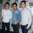 """Zach Roerig, Michael Trevino et Steven R. McQueen à la conférence de presse de la série """"Vampire Diaries"""", le 14 juillet 2012."""