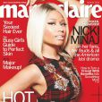 """Nicki Minaj porte une création Fausto Puglisi pour la couverture de """"Marie Claire"""", édition américaine août 2013."""