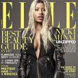 Nicki Minaj photographiée par Thomas Whiteside et habillée en Tom Ford figure en couverture du magazine ELLE américain d'avril 2013.