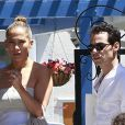 Jennifer Lopez et son ex-mari Marc Anthony à Los Angeles, le 19 juin 2013.