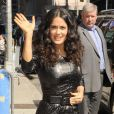 Salma Hayek au Late Show With David Letterman à New York le 10 juillet 2013.