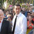 Sergio Busquetsau mariage de son coéquipier Xavi à Blanes le 13 juillet 2013.