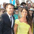 Albert Jorquera et sa compagneau mariage de son ex-coéquipier Xavi à Blanes le 13 juillet 2013.