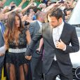 Cesc Fabregas avec Daniella Semaanau mariage de son coéquipier Xavi à Blanes le 13 juillet 2013.