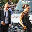 Pepe Reina et sa femme Yolanda Ruizau mariage de son ex-coéquipier Xavi à Blanes le 13 juillet 2013.