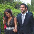 Le footballeur Cesc Fabregas et Daniella Semaanau mariage de son coéquipier Xavi à Blanes le 13 juillet 2013.