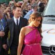 Lionel Messi avec sa petite amie Antonella Rocuzzoau mariage de son coéquipier Xavi à Blanes le 13 juillet 2013.