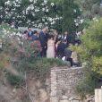 Mariage de Xavi Hernandez et Nuria Cunillera à Blanes, le 13 juillet 2013.