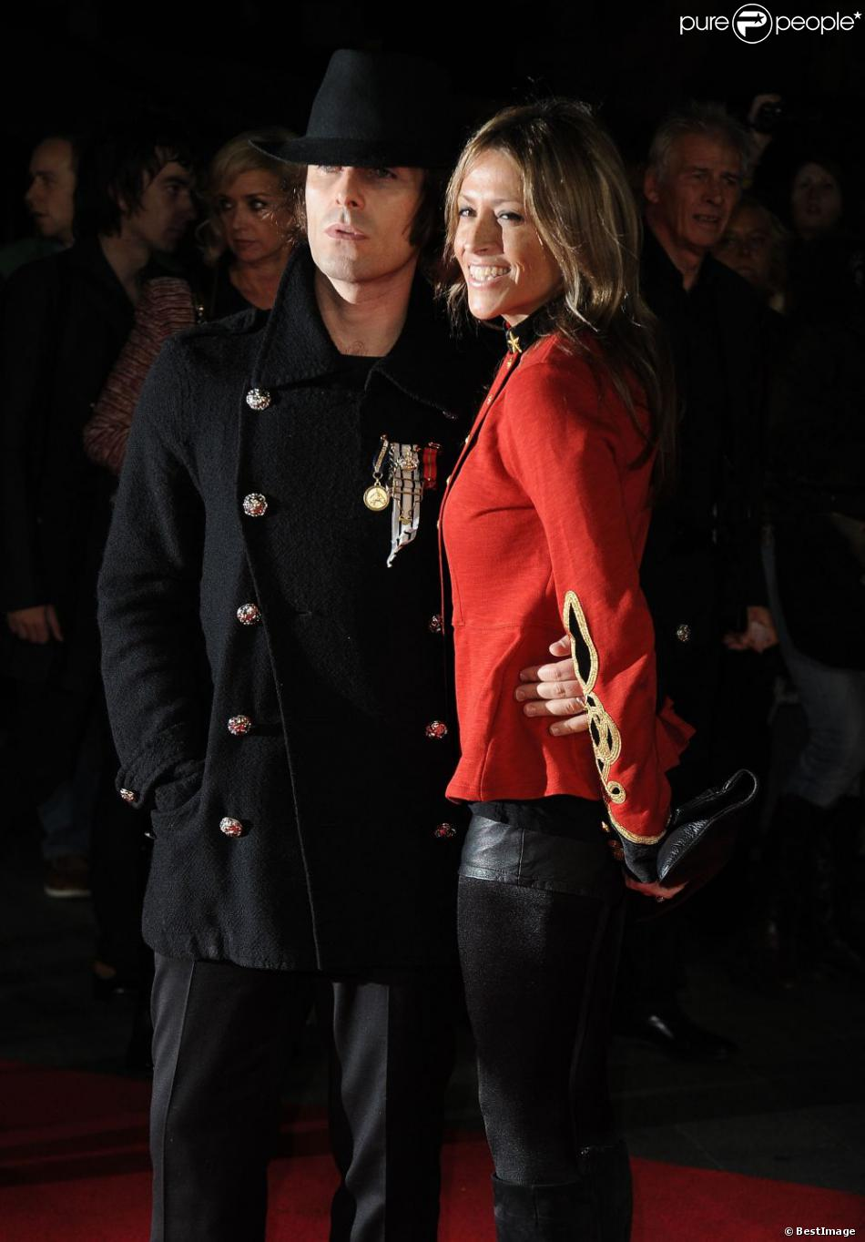 Nicole Appleton et Liam Gallagher à Londres, le 18 octobre 2012.