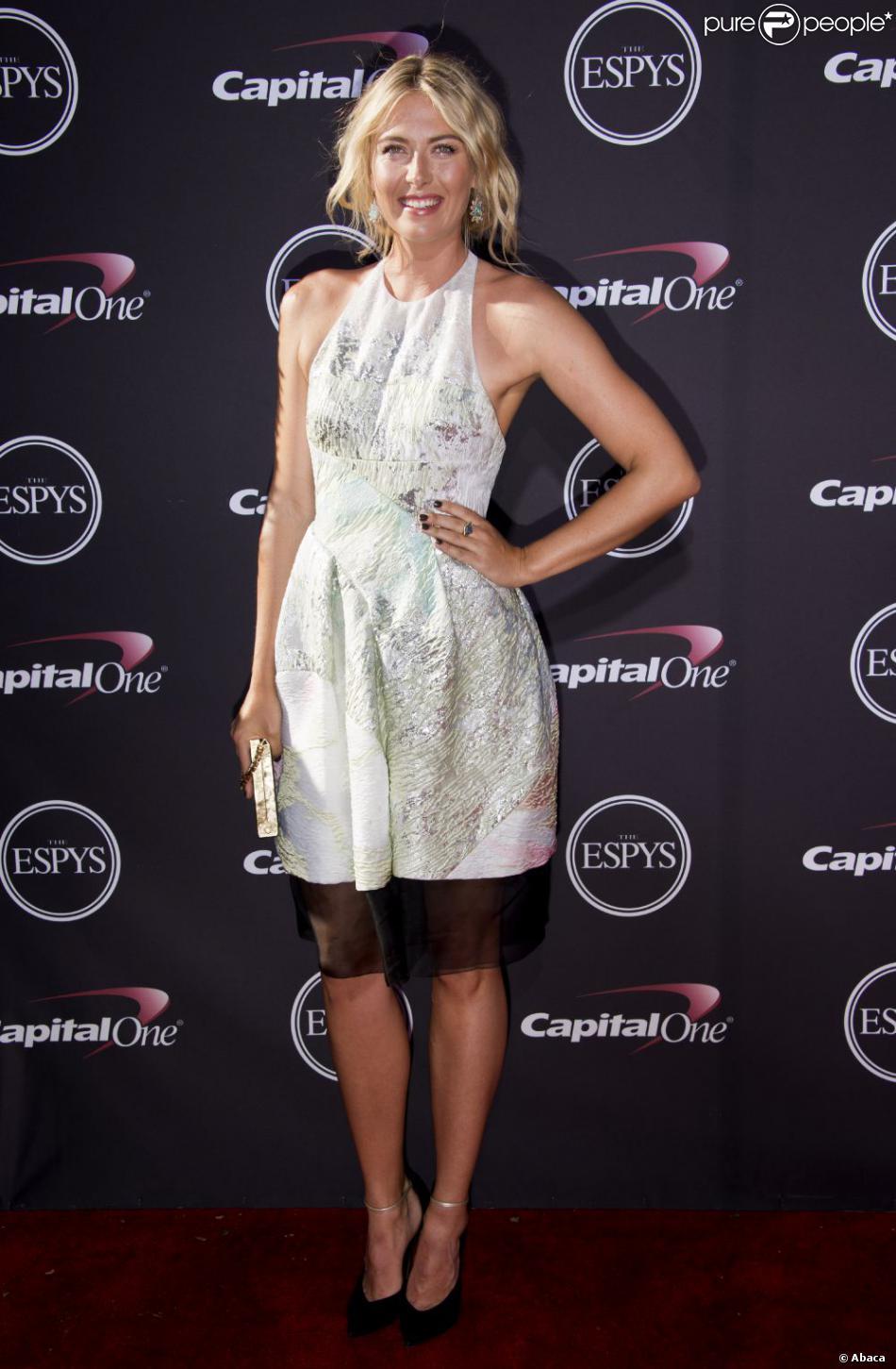Maria Sharapova lors de la cérémonie des ESPY Awards au Nokia Theatre de Los Angeles le 17 juillet 2013