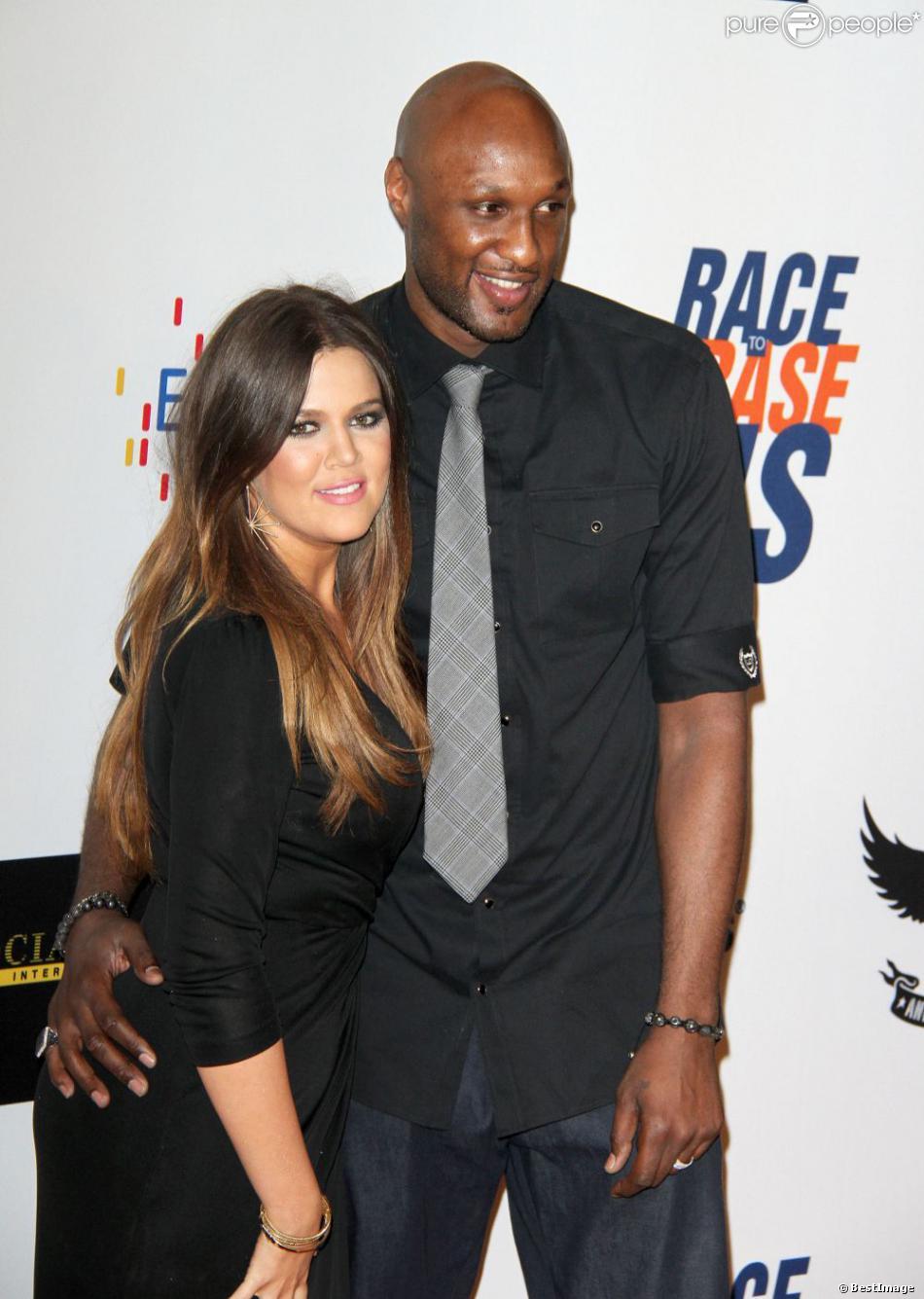 Khloe Kardashian et Lamar Odom le 18 mai 2012 à Los Angeles.