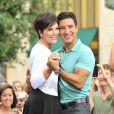 Kris Jenner dans l'émission Extra de Mario Lopez, le 10 juillet 2013 à Los Angeles.