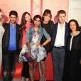 Exclusif - Cécile Cassel, Salim Kechiouche, Joséphine Drai, Reem Kherici (robe Dina JSR), Shirley Bousquet, Philippe Lacheau et Tarek Boudali à Paris, le 14 juin 2013.
