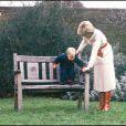 Le prince William en décembre 1983 avec ses parents le prince Charles et la princesse Diana