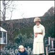 Le prince William en décembre 1983 avec sa mère la princesse Diana